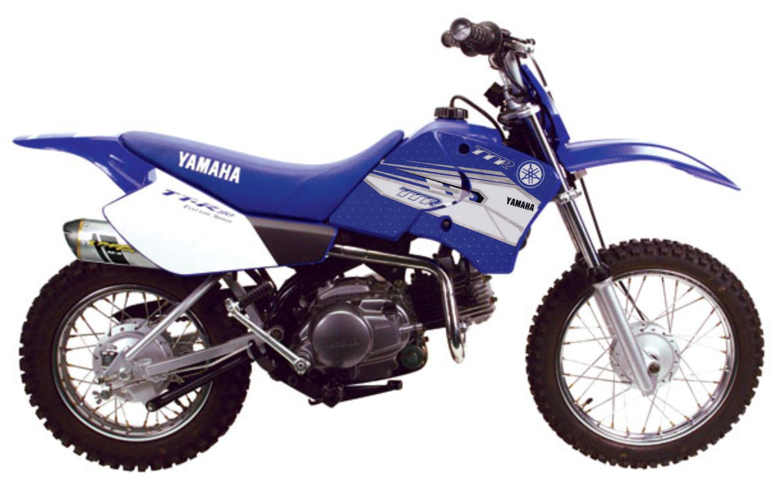Tank sticker kit yamaha blue suits yamaha ttr90 ttr125 ttr250 for Yamaha ttr 90
